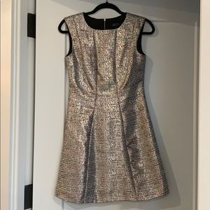 Metallic Tahari Cocktail Dress